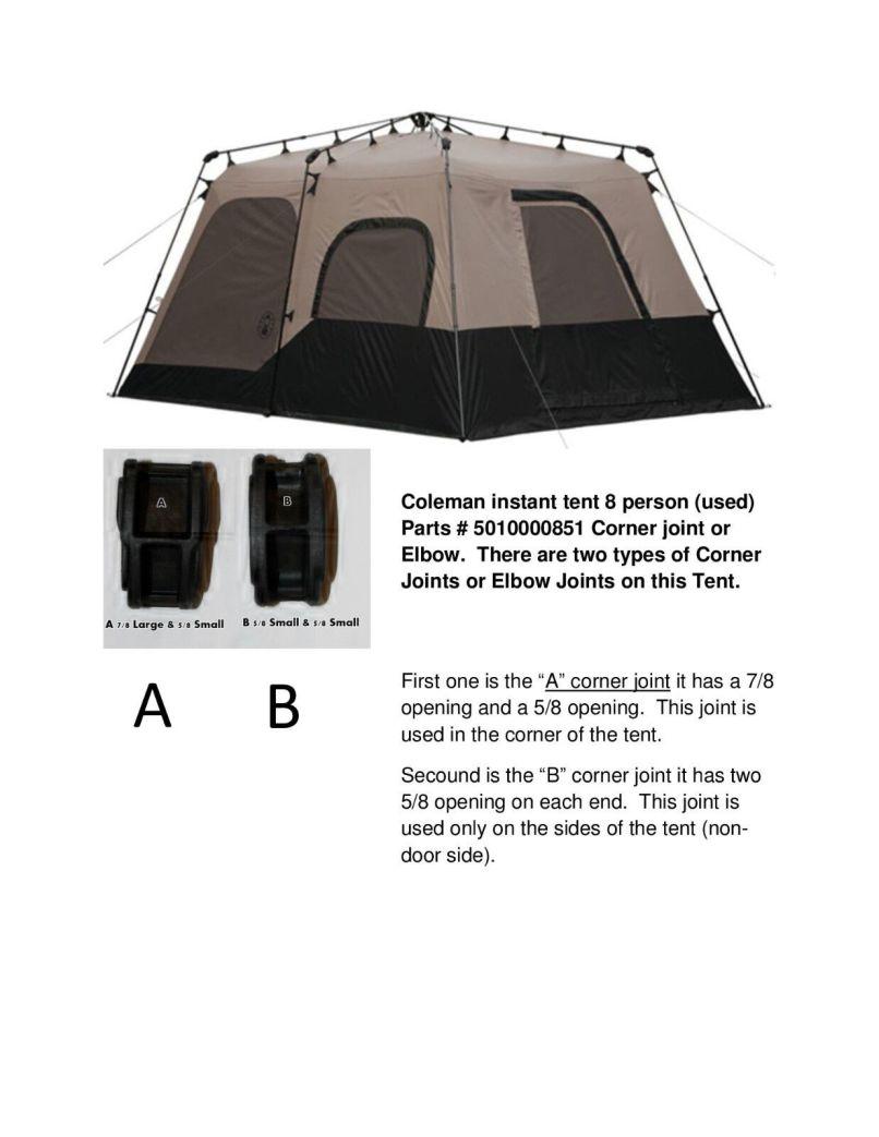 Coleman Instant Tent 8 10 Person Parts