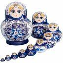 10pcs Russian Nesting Dolls Matryoshka handmade High Quality Portable