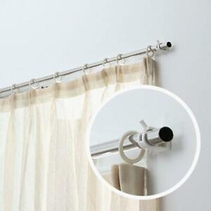 details about 1pair curtain rod brackets no drill adjustable stick fixed clip holder rack hook