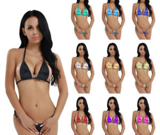 Image Is Loading Women 039 S Swimwear Micro Thong G String