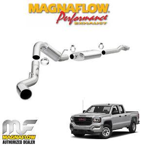 details about magnaflow 4 cat back exhaust 2014 2019 gmc sierra 1500 6 2l v8 crew cab 5 7 bed