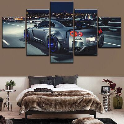 nissan skyline gtr car 5 piece canvas print wall art ebay