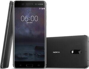 "Nokia 6 Dual SIM 64GB Black 5.5"" 4GB RAM 16MP Android Phone By FedEx"