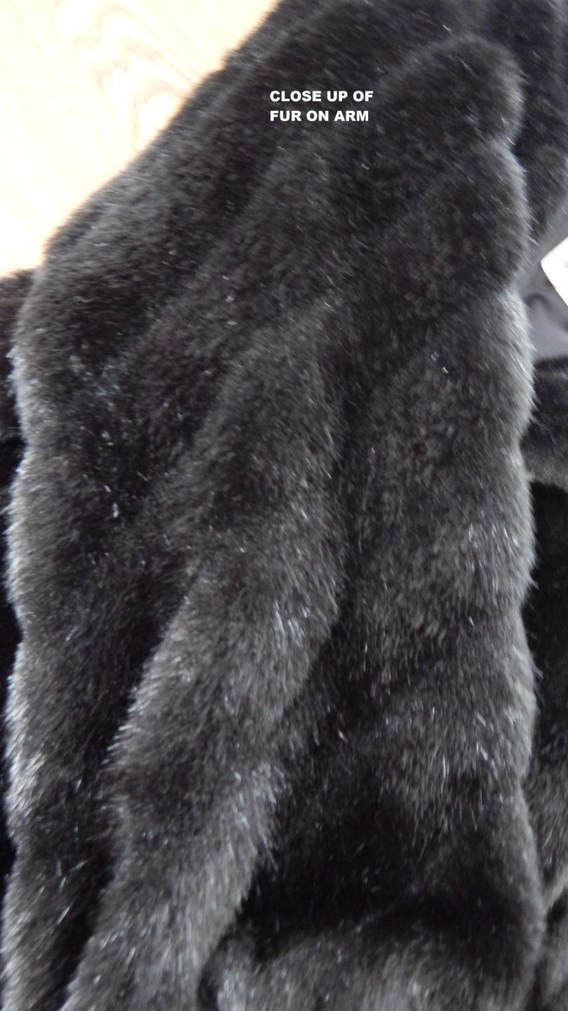 Monterey Fashions Fake Fox Fur Jacket Women s Size 12 BLACK     Monterey Fashions Fake Fox Fur Jacket Women s Size 12 BLACK