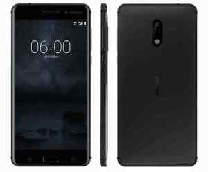 Brand New Nokia 6 Dual SIM 32GB/4GB Black 5.5'' Android 7.0 16MP Smartphone US