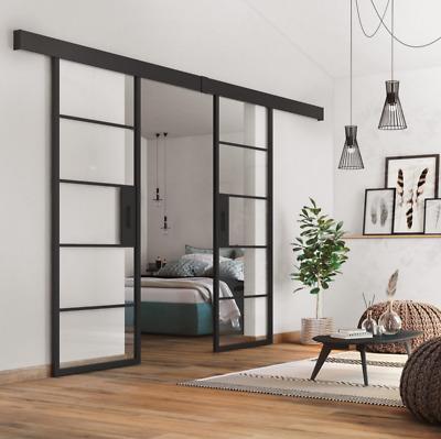 Industrial Metal Interior Double Sliding Doors 1460mm Ebay