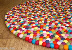 details sur taille 120 cm bright pompon feutre boules pepiniere rond zone tapis home office decor afficher le titre d origine