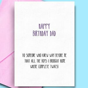 Birthday Wishes For Father From Daughter Son Funny Rude Funny Birthday Cards Ebay