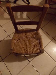 petite chaise en bois et en paille ebay