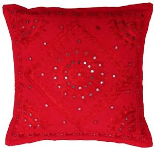 24 x 24 red pillow case decorative