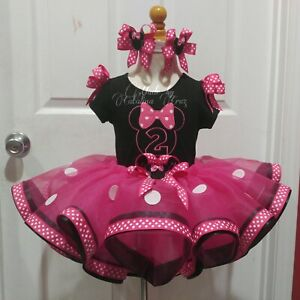 Personalized Minnie Mouse Birthday Tutu Outfit Set For 1st Up To 5th Birthday Ebay