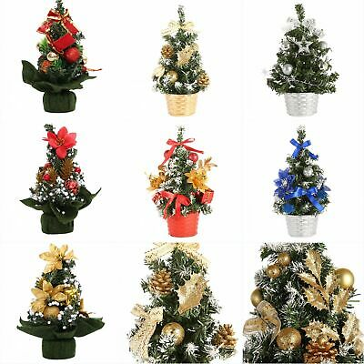 Mini Desk Table Top Christmas Small Xmas Christmas Tree Party Ornaments Decor Us Ebay