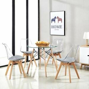 details sur table salle a manger en verre ronde table de cuisine scandinave design fa 80cm