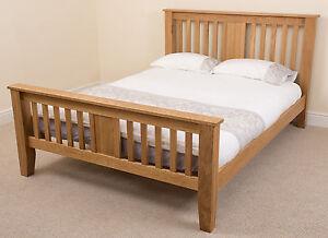 822b864ee1d Boston Solid Oak Wood 6ft Super King Size Wooden Bed Frame Bedroom