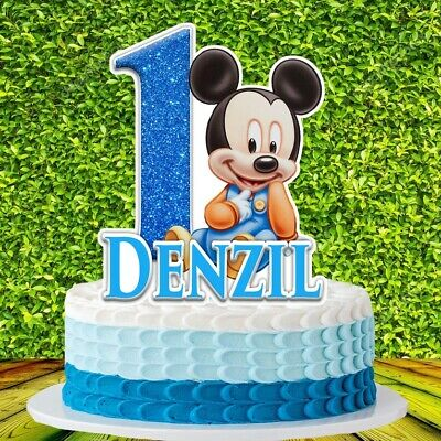 Mickey Mouse Baby Cake Topper Ebay