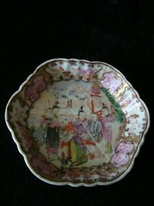 Small Chinese Famille Rose Hexagonal Dish