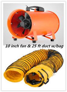 details about 10 extractor fan blower portable 8m duct hose w bag fume ventilation exhaust