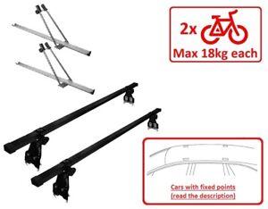 details about set roof rack bike racks for 2 bikes m10po120 vauxhall corsa d hatchback 06 14