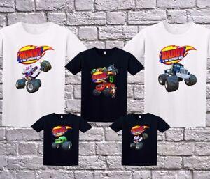 Blaze And The Monster Machines Family Custom Birthday Shirt Black White Ebay
