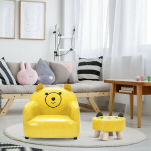 details about kids mini sofa children girl boys chair seat armchair couch w footstool bedroom