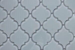 details about pacifica off white arabesque glass mosaic tiles kitchen backsplash tile