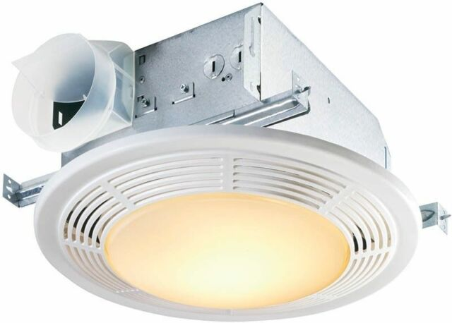 nutone decorative white 100 cfm ceiling exhaust fan with light 8663rp