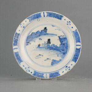 Antique Japanese Shoki Imari Plate ca 1630-1640 Arita Japan Porcelain