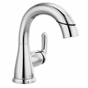 details about delta broadmoor single handle bathroom faucet pull out spray chrome 15765lf pd