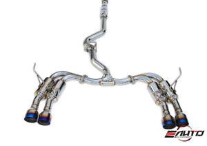 details zu invidia gemini r400 quad titanium tip catback exhaust for subaru wrx sti 15 20