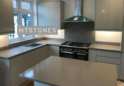 Light Grey Kitchen Worktop Sample I Quartz Granite Countertops I All Colours Ebay