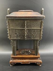 Huge Antique Chinese Bronze Censer Ming Incense Burner