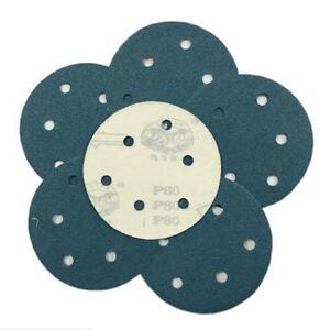 "5"" Inch Sanding Discs Hook & Loop Round Sand Paper Sheet 125mm 60 - 600 Grit"
