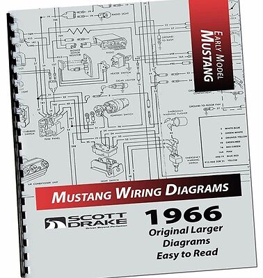 new 1966 ford mustang wire diagram manual larger easy to read print  exploded  ebay