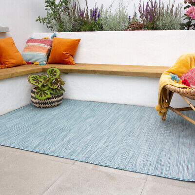 duck egg blue patio rugs weather resistant durable washable plastic outdoor rug ebay