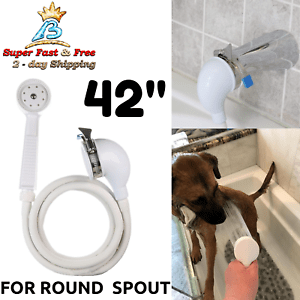 details about handheld pet shower sprayer and hose for bath tub faucet dog bathing rinser tool