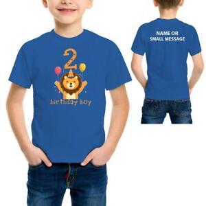 Birthday Boy 2 Years Lion Kids Children Boys 2nd Birthday Printed T Shirt Gift Ebay