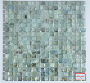details about green iridescent european style fusion glass mosaic