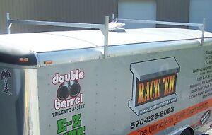 details about rack em adjustable aluminum ladder roof rack enclosed trailers fitz all ra 28