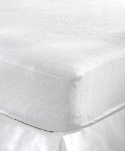 Image Is Loading Waterproof Terry Towelling Mattress Protector Double Bed Size