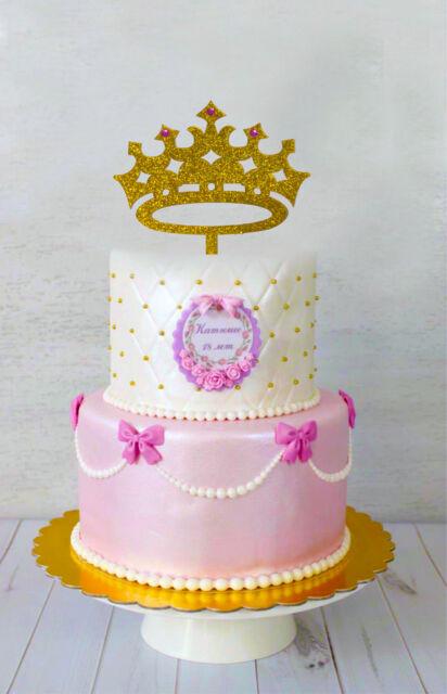 Princess Cake Topper Personalized Tiara Cake Topper Birthday Crown Cake Topper Disney Princess Birthday Decoration First Birthday Cake Toppers Bakeware Urbytus Com