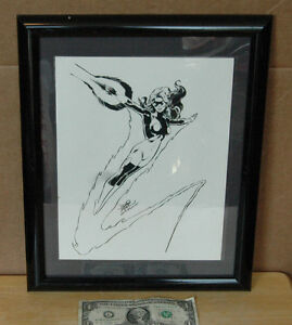 Mike Gustovich 1982 Comic Art Framed