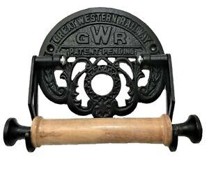 Victorian Style Toilet Roll Holder Black Iron Gwr Railway Novelty Retro Ebay