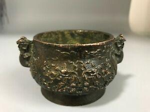 Old China Ming Dynasty Xuande Mark Bronze incense burner Censer