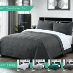 White Quilted Sheridan King Bed Coverlet And 2 Euro Pillow Cases Shams For Sale Online Ebay