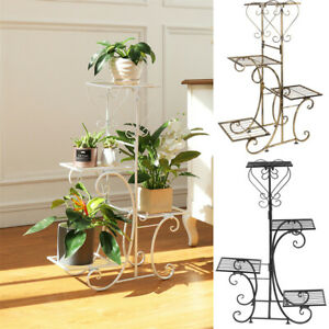 4 Pots Steel Outdoor Indoor Plant Stand Home Garden Balcony Floral Corner Rack Ebay
