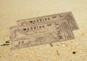 Ticket Safari Wedding Invitations
