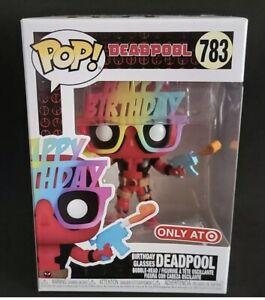 Funko Pop 783 Happy Birthday Glasses Deadpool Target Exclusive Ebay