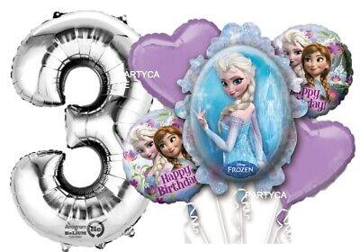 Disney Frozen Anna Elsa 3rd Birthday Party Foil Balloons Bouquet Kit Decoration Ebay