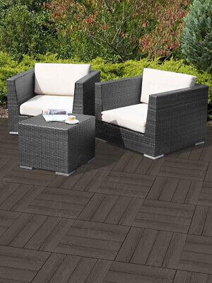 garden interlocking decking tile recycled rubber brown decktile 45 x 45cm ebay