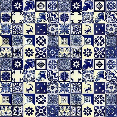 blue white mexican tile handmade talavera backsplash handpainted mosaic ebay